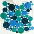 Turquoise Wave Circles 30x30cm