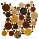Brown Leather Circles 30x30 cm