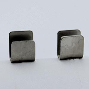 rvs u houder 20 x 6 mm met pin