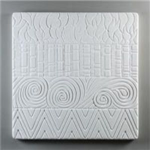 texture plate 24x24 cm