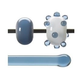 Glass rod 1506 F pale steel blue