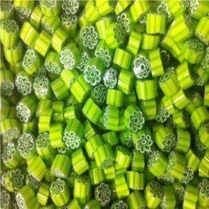 lime green flower 25 gram millefiori coe 104
