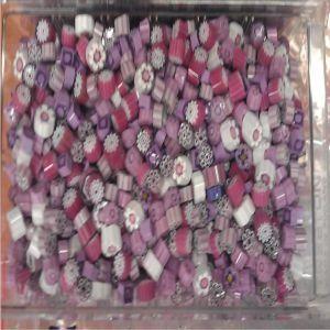 purple/pink mix 25 gram millefiori coe 104
