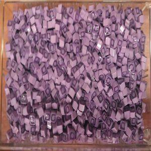 purple square 25 gram millefiori coe 104