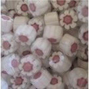 white /pink flower 25 gram millefiori coe 104